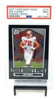 2007 Topps Chrome Black HOF Browns JOE THOMAS Rookie Football Card PSA 9 - Pop 3
