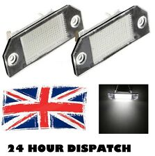 2 X FOCUS MK2 C-MAX Mk1 8000k bianco SMD LED license number plate light
