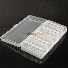Empty Storage Organizer Cells Case Box 25 Jars for Nail Art Tips Tools Bead Gems