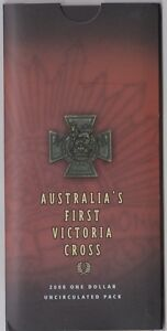 2000 Australia's First Victoria Cross, $1 UNC Coin, RAM Folder and Coin PICTURED