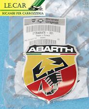 FREGIO LOGO STEMMA ANTERIORE ADESIVO FIAT 500 ABARTH dal 2007 > 6/2015 ORIGINALE