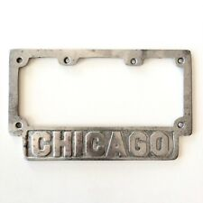 Old License Plate Frame 1920s 9X4 Chicago Model A Antique Auto 4 Digits Garage