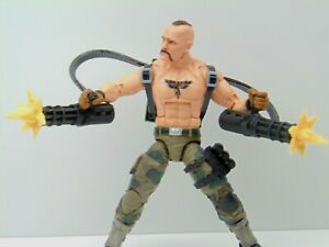 Custom Weapons 1:12 Scale Double Gatling Guns Backpack Chain Bullet Muzzle Flash