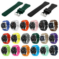 Silicone Bracelet Strap Watch Band For Samsung S3 Classic/Frontier 22mm HOT