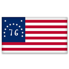 "Us Bennington American Flag car bumper window sticker 6"" x 3"""