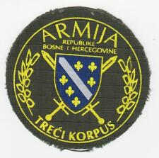 Bosnia Army 3rd CORPS - war time,  sleeve patch, THIRD CORPS , vintage patch !