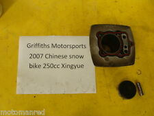 07 Chinese snow bike snowmobile xingyue 250 motorcycle CYLINDER JUG PISTON RINGS