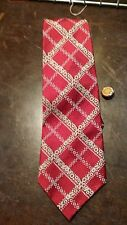 Haband Vintage Red White Floral Stripe Men'S Necktie Free Shipping