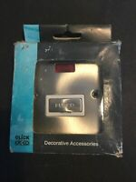 Click Deco VPSC753WH Victorian Satin Chrome 13A Fused Spur & Neon - New & Boxed