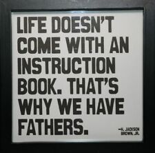 """Quotable Framed Prints """"Life's Instruction Book"""" Father's Gift Quote Frame Fr246"""