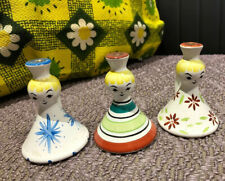 Vintage 1950's/60's Pittery Candle Holders