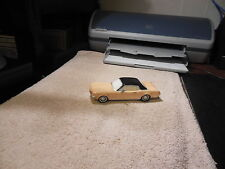 Dept 56 1964 1/2  Ford Mustang  Car Yellow W/ Black Top