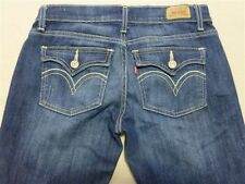 034 WOMENS LEVI'S 524 BLUE STRETCH JEANS SZE 5 USA EX-COND, $170 RRP.