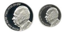 ISRAEL 1996 P.M. YITZHAK RABIN PR+BU SILVER COINS