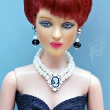 "handmade Tonner Tyler 16"" doll jewelry set necklace+earring for Tonner dolls"