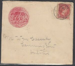 Canada - Aug 13, 1895 Toronto, On Domestic Advertising Cover