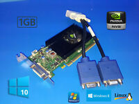 Dell Optiplex 740 745 755 760 780 790 SFF 1GB Low Profile Dual VGA Video Card