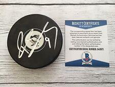 Pascal Dupuis Signed Pittsburgh Penguins Hockey Puck Beckett BAS COA c