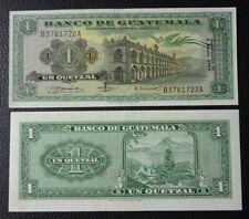 GUATEMALA BANKNOTE 1 Quetzal, Pick 52f  UNC 1969