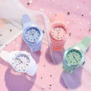 Children Kids Watches For Boys Girls Colour Analogue Sports Watch with bezel