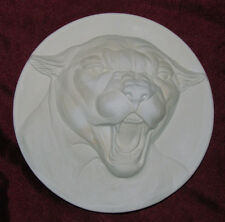 Ceramic Bisque Cougar Plate U Paint Ready to Paint Cat Wildlife Animal