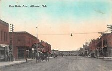 Alliance Nebraska Box Butte Avenue Antique Postcard (J22380)