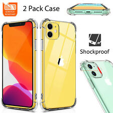 2 PCs Apple Silicone Bumper Clear Case Shockproof Back Cover For Various iPhone