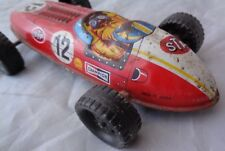 MACCHINA DA CORSA CAR TIN TOY MADE IN JAPAN STP VINTAGE 1960  LATTA TOYS LITHO