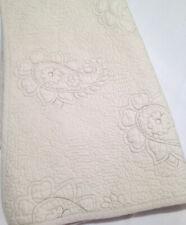 Kenji Ivory Cream Quilted Paisley Matelasse King Pillow Sham (1) 100% Cotton