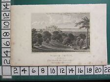 1829 DATED ANTIQUE YORKSHIRE PRINT ~ WILTON CASTLE