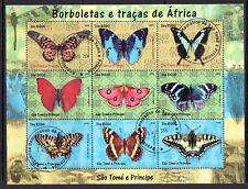 St.Thomas, 2004 Édition. Papillons Feuille de 9. Canceled