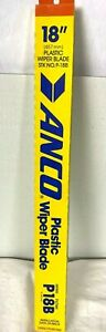 """Anco P-18B Plastic 18"""" Windshield Wiper Blade Replacement Made in USA 457 mm"""