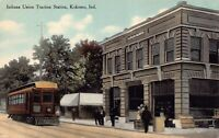 Postcard Indiana Union Traction Railroad Station in Kokomo, Indiana~125096