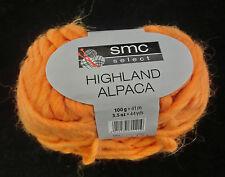 (124,50 €/kg): 900 grammi Highland Alpaca, INVERNO LAVORAZIONE A MAGLIA, Fb. 2921 Orange #1583