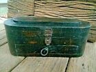 VINTAGE OLD  HAND CARVED WOODEN PEN PENCIL OR CASH BOX