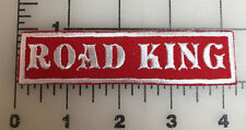 "Custom  Biker Vest Patch ROAD KING  4""X 1"""