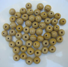 50grams of ROUND BEIGE OPAQUE GLASS BEADS 9mm
