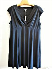 Womens Plus Size 22W Clothes Black Empire Waist Dress NWT $80.00 Glamour