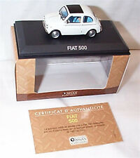 Fiat 500 1957 in white 1-43 scale Cars Collection New in case boxed 2147216