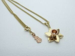 "Clogau Gold, 9ct Yellow & Rose Gold Daffodil Pendant & 19"" Chain"