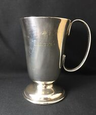 Vintage Crusader EPNS A1 silverplated cup engraved with Caltex