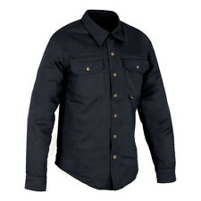 Oxford Kickback Aramid Lined Water Resistant Motorcycle Bike Shirt Black