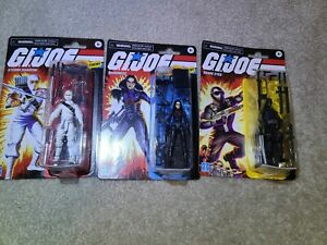 2020 G. I. Joe Retro Collection Storm Shadow Snake Eyes Baroness Lot Walmart Exc
