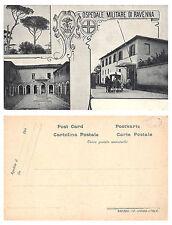 C4323) OSPEDALE MILITARE DI RAVENNA, TRE VEDUTINE 1 CON AMBULANZA A CAVALLI.