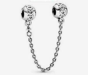 Genuine Sterling Silver Pandora Safety Chain Charm ALE S925 With Gift Pouch
