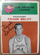 Frank Selvy signed autographed 1961 FLEER #40 card - RARE vintage Lakers auto