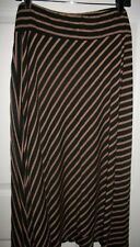 Allison Brittany Women's Brown & Black Striped Elastic Waist Skirt Size 3X