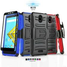for CRICKET ICON, [Refined Series] Phone Case Cover & Holster +Tempered Glass