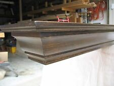 "Floating Wood Crown Mold Wall Shelf/fireplace Mantel Walnut Stain, 72"" Long"