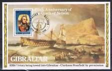 Gibraltar 1980 gestempeld block 7 - Sterfdag Lord Nelson (XG037)